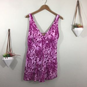 NWT Swimsuits for All fuschia floral swimdress